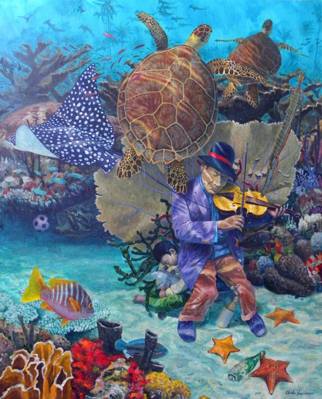 acrylic on canvas 48
